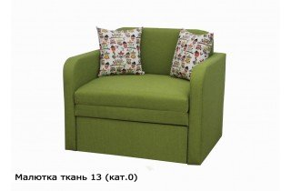 Диван Малютка в зелёном цвете № 13