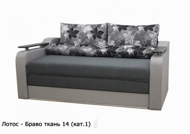 Диван Лотос-Браво № 14 серый