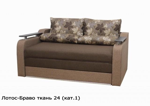 Диван Лотос-Браво коричневый № 24