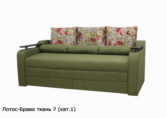 Диван Лотос-Браво ширина спального места 180 см. в цвете № 7 зелёный